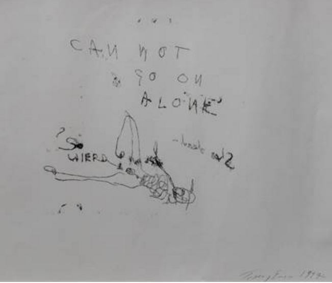 Tracey Emin-Can't Go On-1997