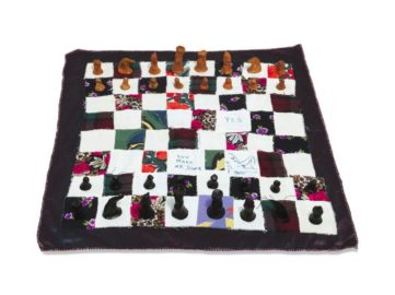 Tracey Emin - Chess Set, 2008, inspired by one of the most popular games in the world