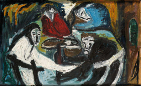 Tracey Emin-Figures at a Table-