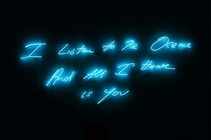 Tracey Emin - I Listen To The Ocean And All I Hear Is You, 2011