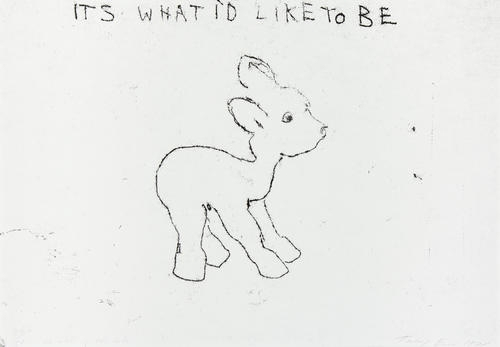 Tracey Emin-It's What I'd Like To Be-1998
