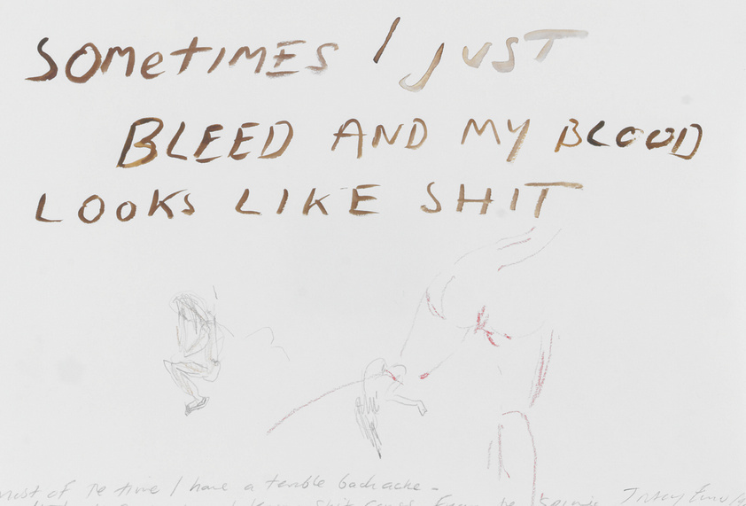 Tracey Emin-Most of the Time I Have a Terrible Back Ache-1999