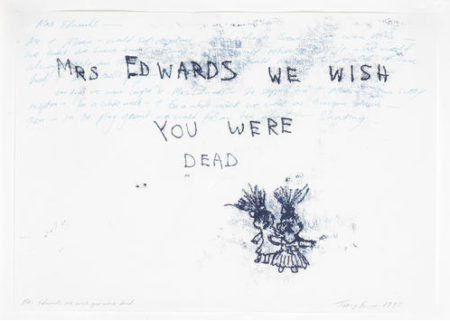 Tracey Emin-Mrs Edwards We Wish You Were Dead-1995