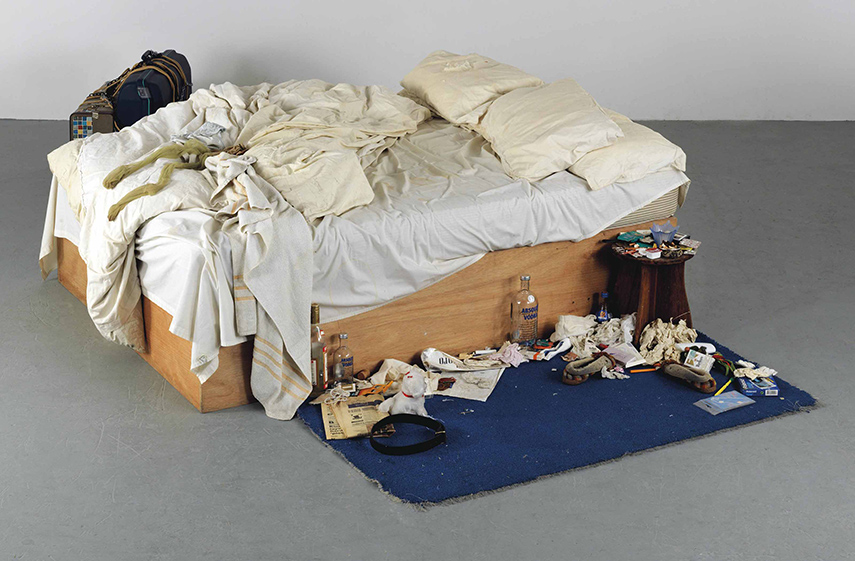 Tracey Emin - My Bed, 1998, Courtesy Tate and Turner Contemporary