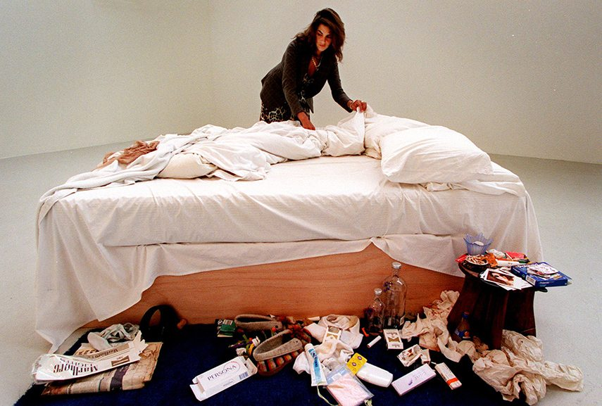 Tracey Emin managed to recycle objects form everyday life as inspiration to design and make her famous Bed