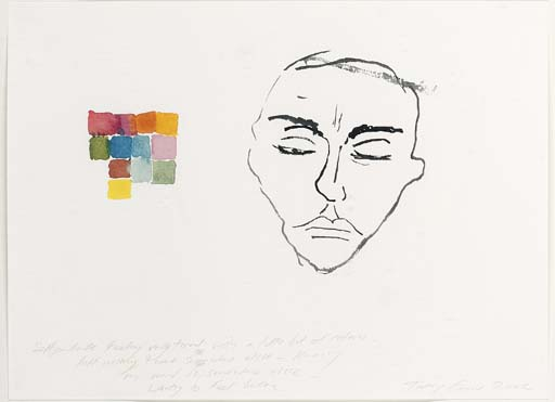 Tracey Emin-Self Portrait Feeling Very Tired, With a Little Bit of Colour-2002
