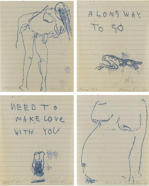 Tracey Emin-Staggering, Need you, There Again, Pregnant-2007