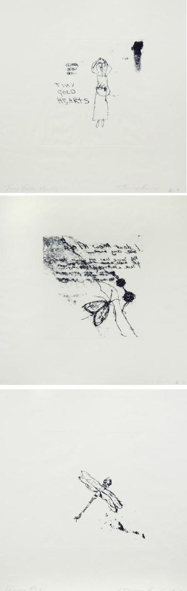 Tiny Golden Hearts, Moth, Dragonfly-2010