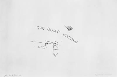 Tracey Emin-You Don't Know Me-1997