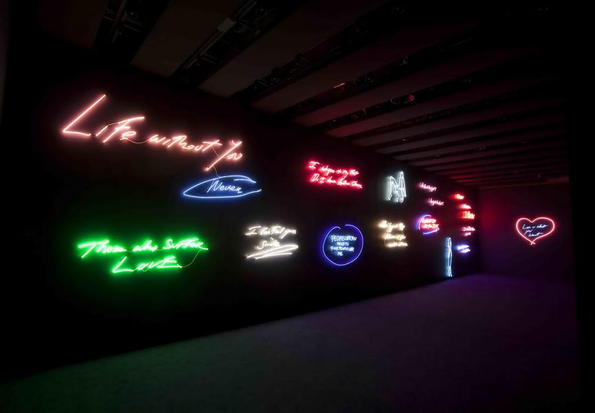 Neon art, museum