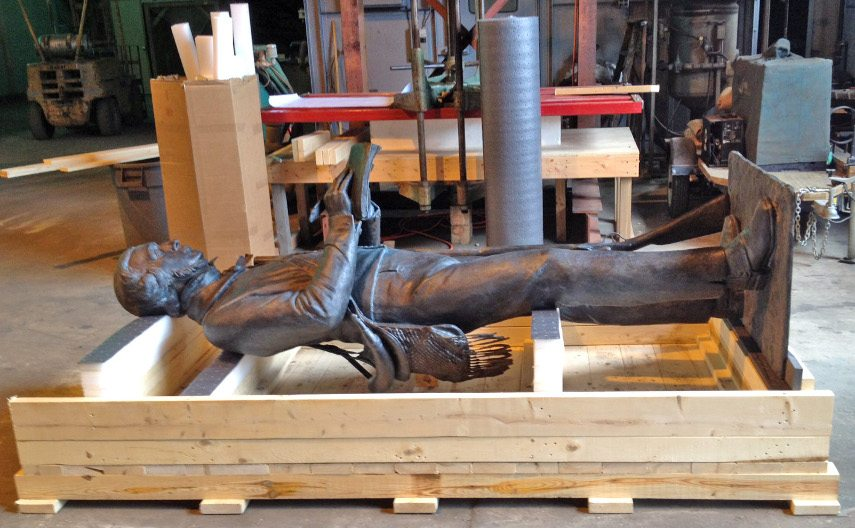 Transporting statues is often the most trickiest type of art transportation
