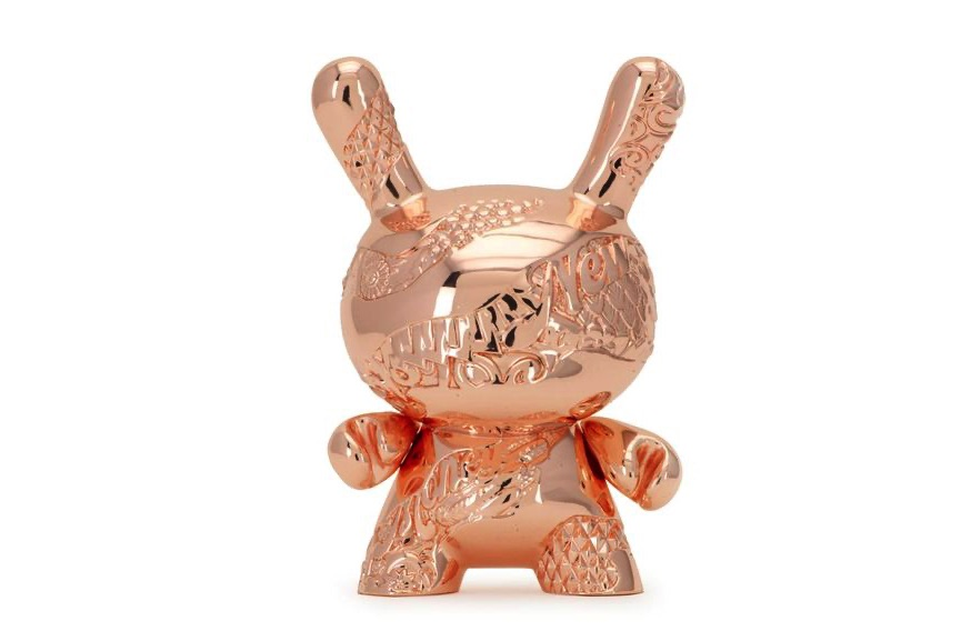 Tristan Eaton - New Money 5 Metal Dunny Art Figure, a dunny or toy from the series of vinyltoys