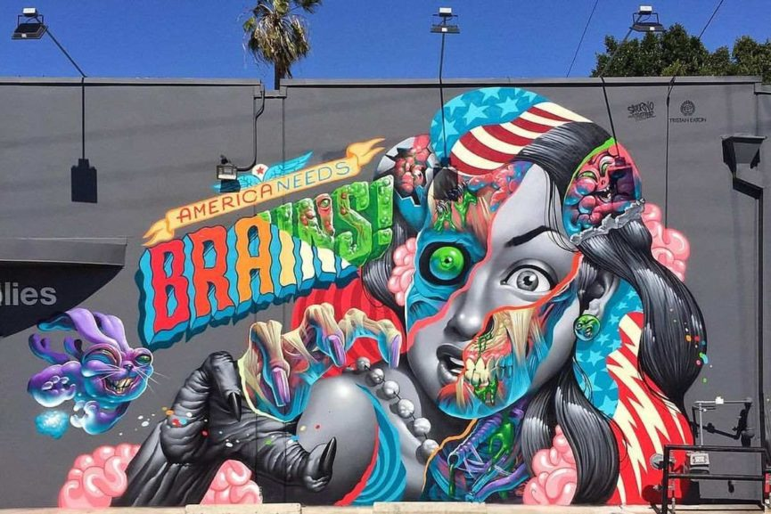Tristan Eaton and Saturno in Los Angeles