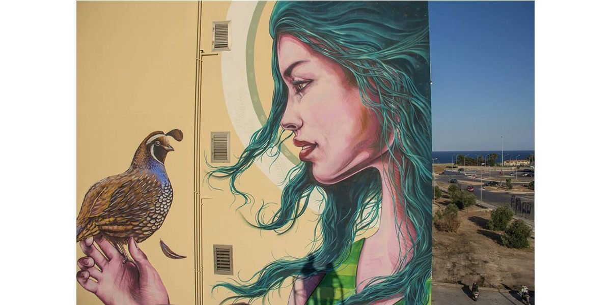 Truly Design, Mauro149 and Rems182 - Lucia, Street Art Mazzarona Festival, Syracuse, Italy