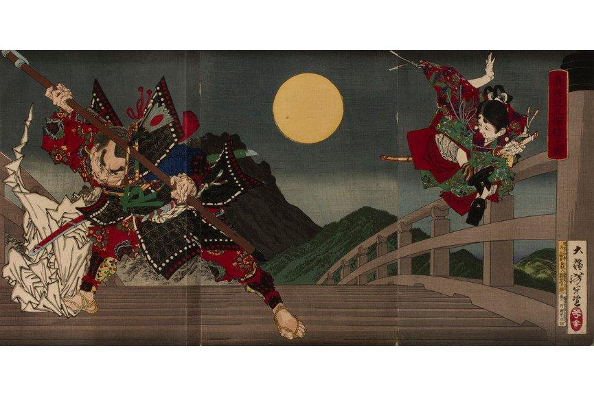 Tsukioka Yoshitoshi - The Twelfth-Century Warrior-Priest Benkei