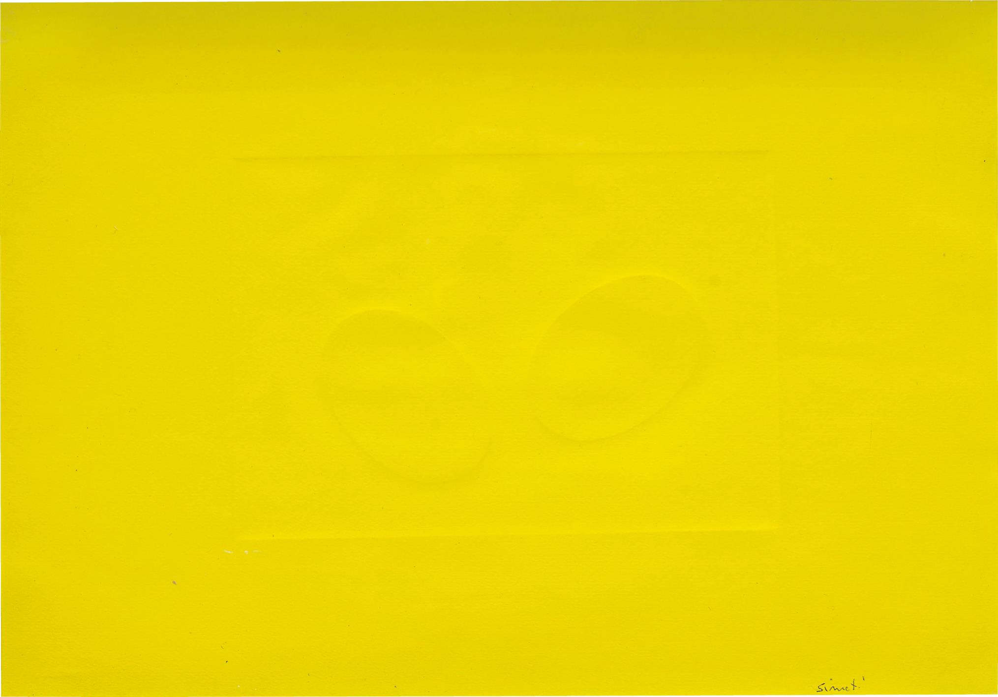 Turi Simeti-Two Yellow Ovals-2005
