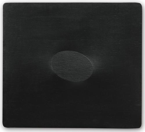 Turi Simeti-Un Ovale Nero-1968