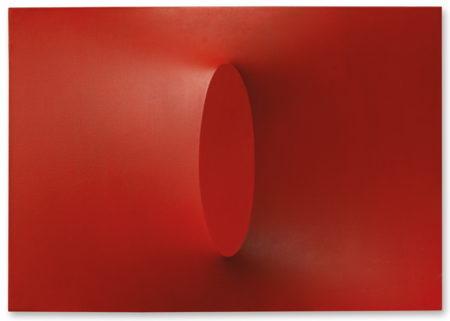 Turi Simeti-Un Ovale Rosso-1967