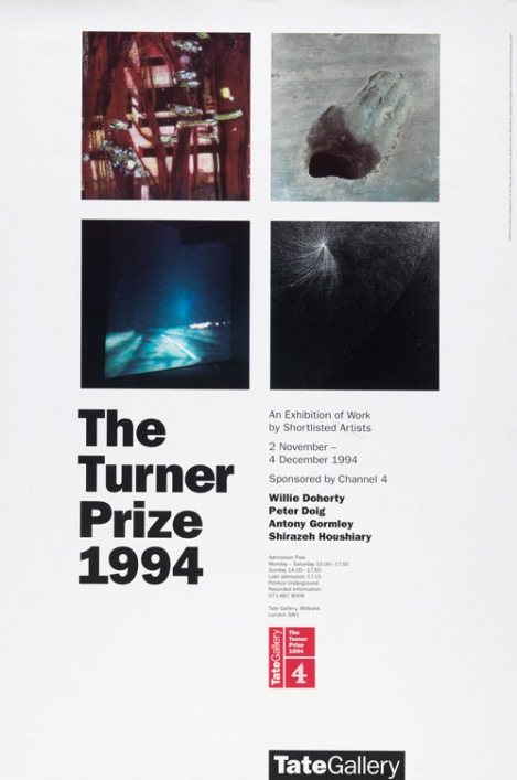 Turner prize 1994 poster tate museum