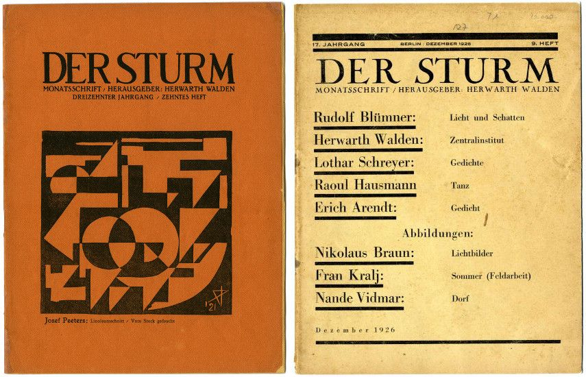 Two Der Sturm Magazine Pages from number 1922 and number 1926