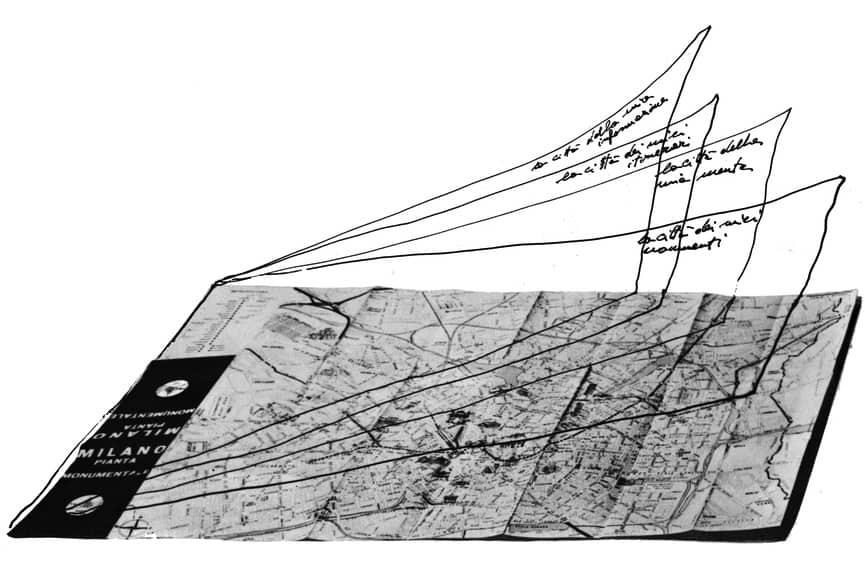 Ugo La Pietra Mappe - decodificazione urbana, 1975