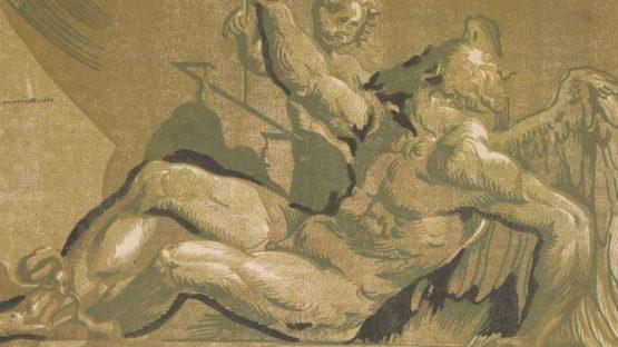 Ugo da Carpi - Saturn, 1524–1527 (detail)