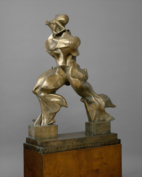 One of the bronze sculpture artists is Umberto Boccioni - Unique Forms of Continuity in Space, 1913