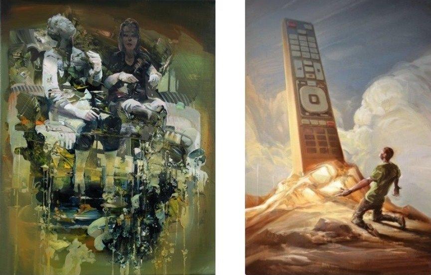 Left: 50x40 cm / Right: 120 x 80 cm