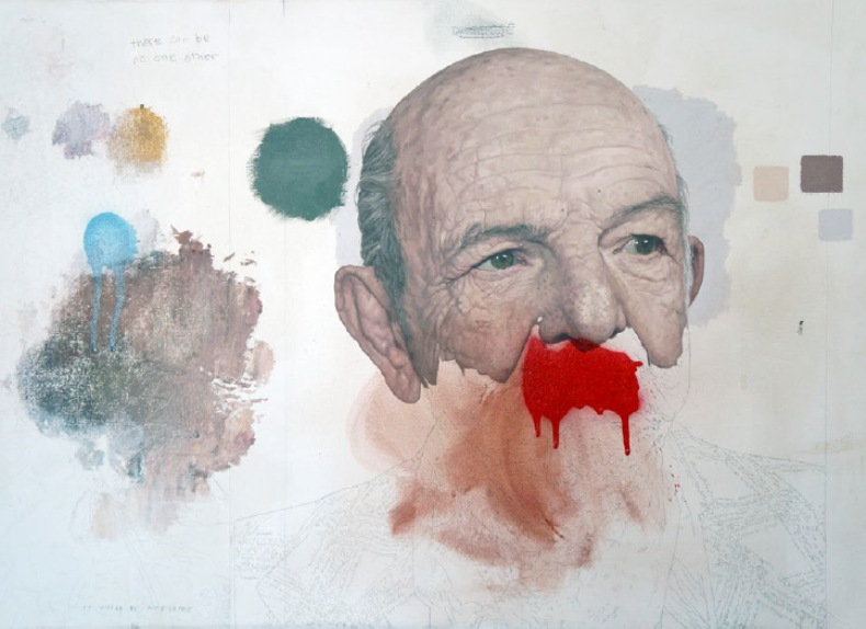 Colin Chillag - Man with Red Moustache, 2014-2015, Oil on Canvas, 18x24 in.