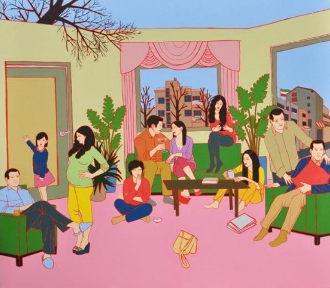 Romisa Sakaki - Tehran mysterious city, 2014, oil on canvas, 70x80cm
