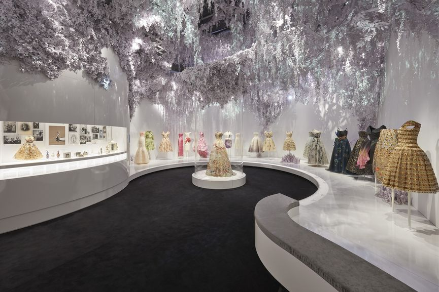 V&A, Christian Dior Designer of Dreams exhibition, The Garden gallery section