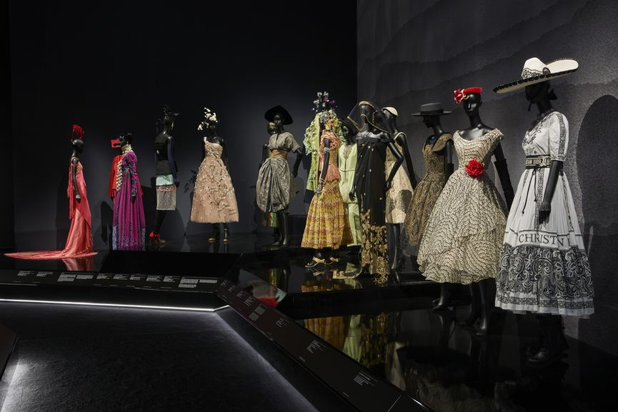 V&A, Christian Dior Designer of Dreams exhibition, Travels gallery Section