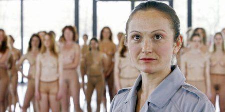 Vanessa Beecroft - The artist in front of her work - Image via vogueit