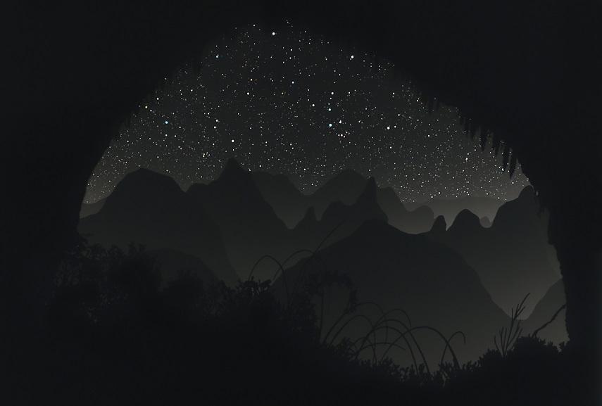 Cave 3, landscape detail