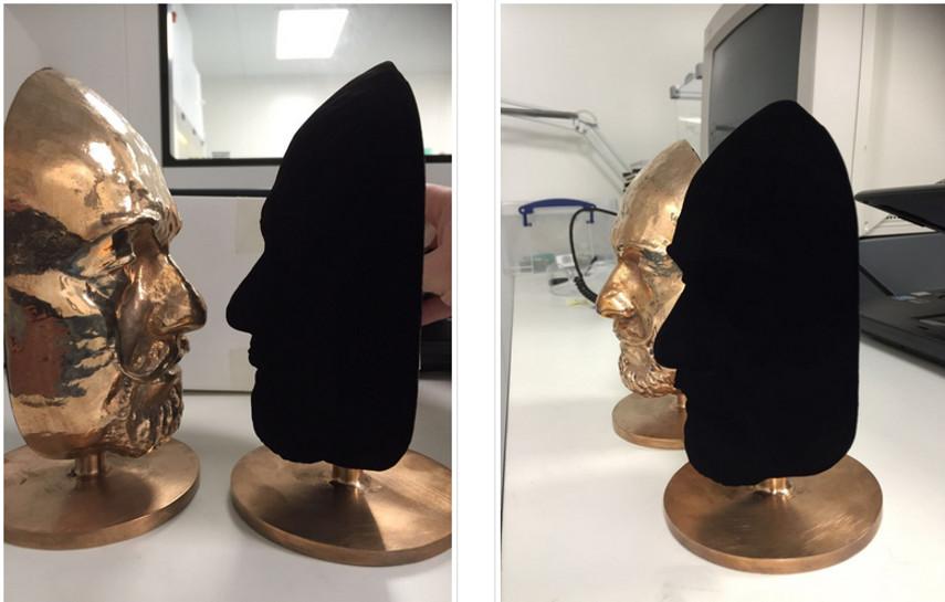 VantaBlack Coated Mask via sciencemuseum