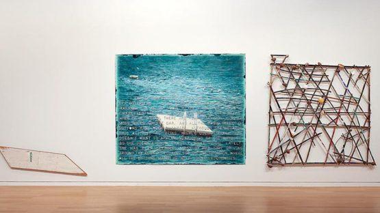 Vernon Fisher - Stickchart Navigation, 1983, contemporary art