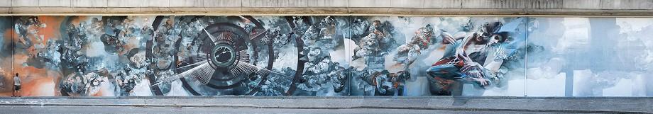 Vesod, Sepe, Corn79 and Tone - 2Friuli 1976, Gemona, Italy, 2015