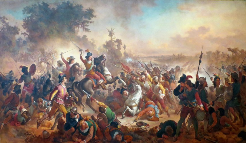 Victor Meirelles - Battle of Guararapes, 1879 - Image via wikimediaorg