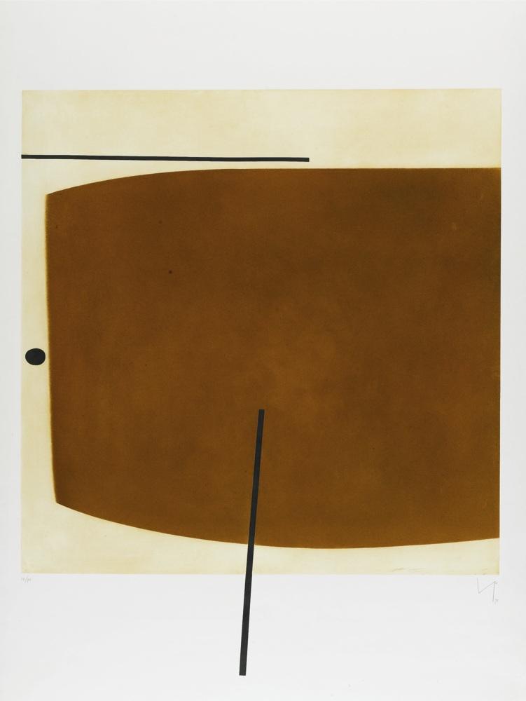 Victor Pasmore-Brown Image Two-1978