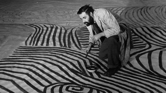 Victor Pasmore at work, 1951, abstract art