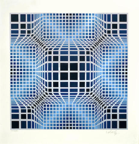 Victor Vasarely-A pair of screenprints-