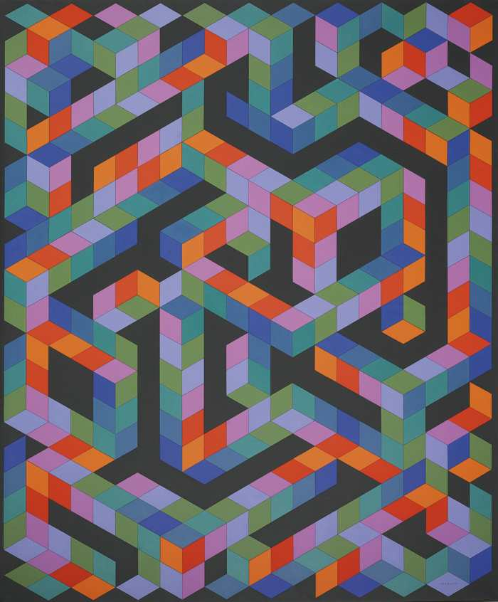 Victor Vasarely-Daymon-1982