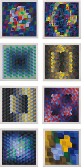 Victor Vasarely-Hommage a L'hexagone (Homage to the Hexagon)-1969