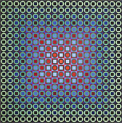 Victor Vasarely-Kedzi III-1966
