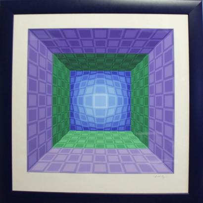 Victor Vasarely-Kinetic composition-