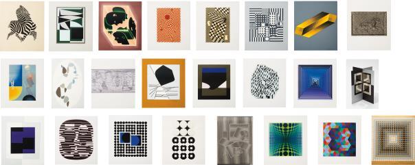 Victor Vasarely-Le discours de la methode portfolio (The Discourse on Method portfolio)-1969