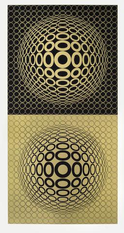 Victor Vasarely-Meta 6, from Album Meta-1976