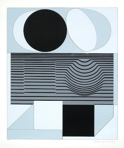 Victor Vasarely-Ondho 2-