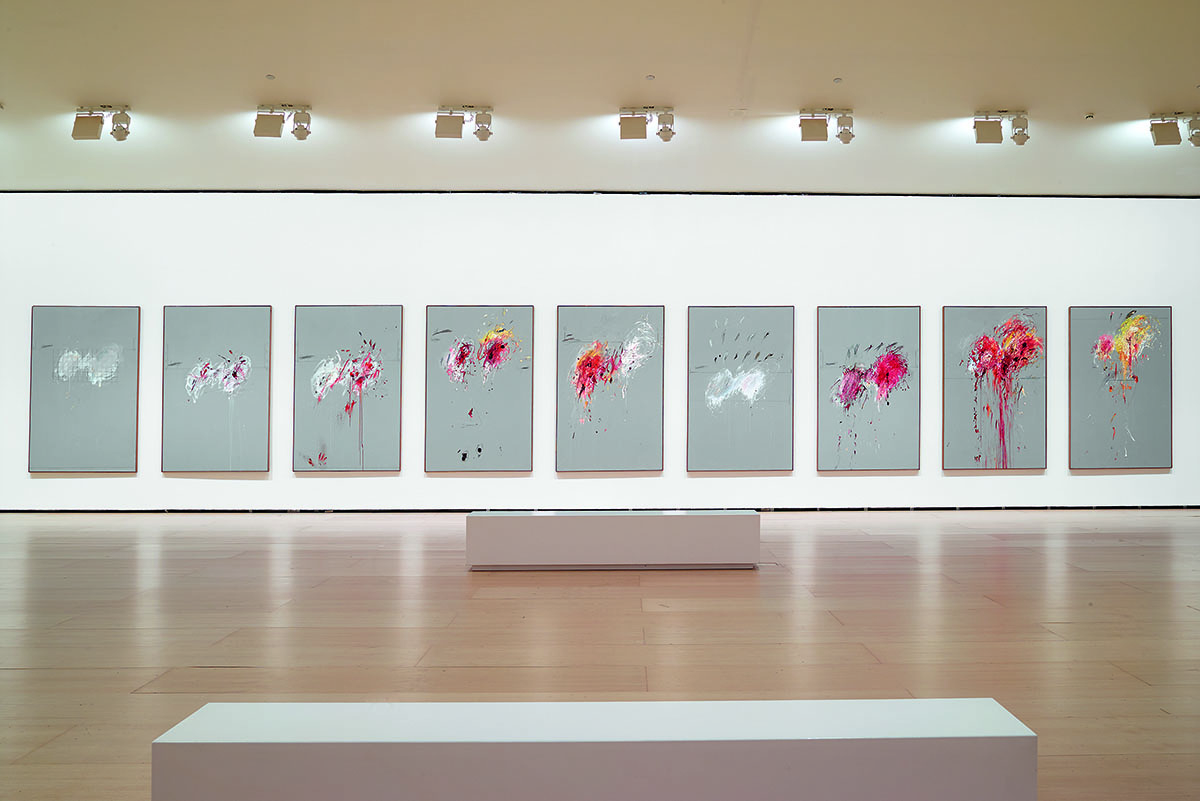 View of the Nine Discourses on Commodus series by Cy Twombly, 1963