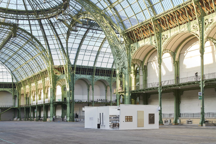 "View of the one-day installation ""Elmgreen & Dragset present Galerie Perrotin at the Grand Palais"" in Paris on Saturday September 24, 2016. Photo: Ambroise Tezenas Courtesy Galerie Perrotin"
